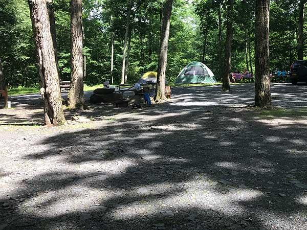 Poconos tent camping